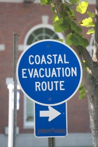 This way to escape the hurricane