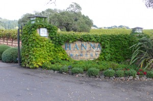 We enjoyed the hospitality of Hanna Wineries