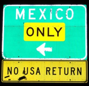 I Photographed This Sign at the San Diego Border Crossing