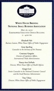 White House Briefing Agenda